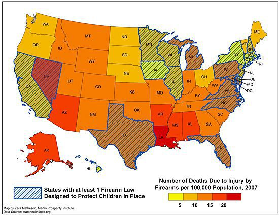 Mass Shootings By State Map.America S Unique Gun Violence Problem Explained In 17 Maps And