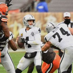 November 2020: In Week 8, the winds were 30 MPH at FirstEnergy stadium. Neither team threw the ball very much, but both kickers were battling for three quarters for a 6-6 tie. The Raiders got their first touchdown in the fourth quarter, and when Cleveland tried to respond, dropped passes and a fumble by TE Harrison Bryant cost them a chance to comeback. Ultimately, it was the Raiders rushing for 209 yards and their ball control that dominated the 16-6 loss for Cleveland. The Browns fell to 5-3.