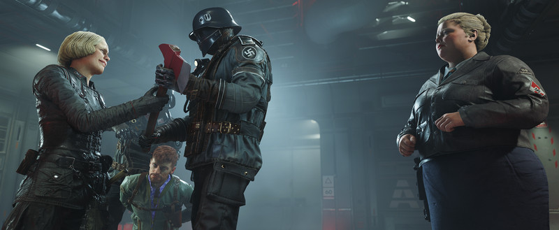 Wolfenstein 2: The New Colossus - Nazis preparing to torture prisoner