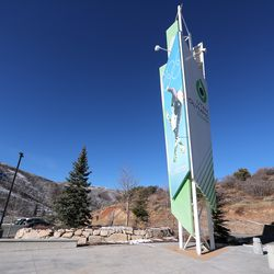 An Olympic sign at the Utah Olympic Park near Park City is pictured on Monday, Nov. 30, 2020.