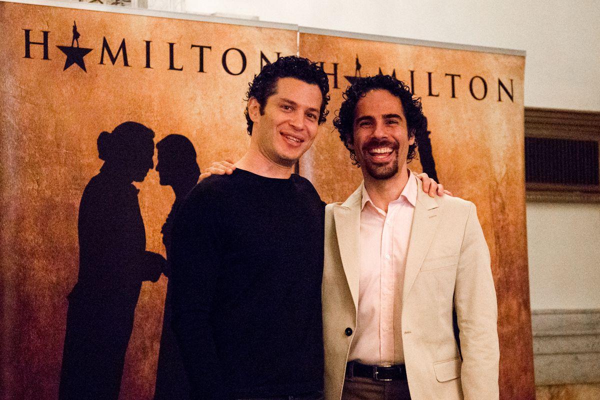 Thomas Kail and Alex Lacamoire meet the Chicago media at the PrivateBank Theatre.   Santiago Covarrubias/Sun-Times