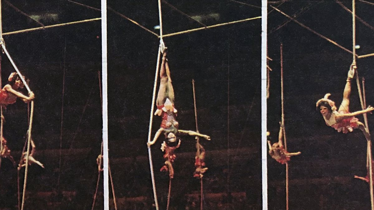 Alice Clark Brown performing her ropes act with Ringling Bros. and Barnum & Bailey Circus.