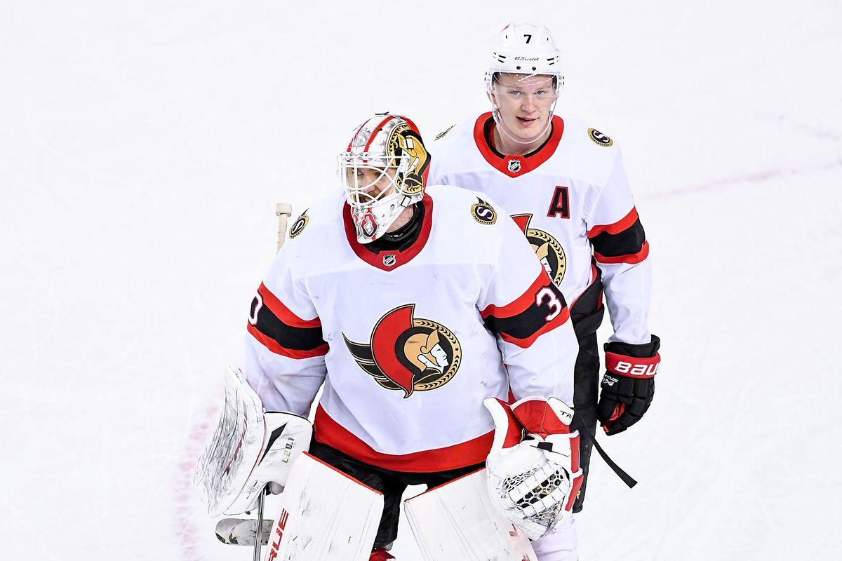 NHL: APR 19 Senators at Flames