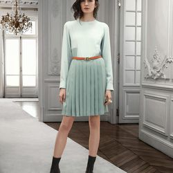 """Classic pleats at Chloe, via <a href= """"http://www.style.com/fashionshows/review/2013PF-CHLOE"""">Style.com</a>"""