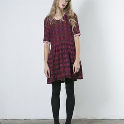 """Ace & Jig Rosemary Dress, <a href=""""http://covetandlou.com/collections/tina-s-favorites/products/ace-and-jig-rosemary-dress-in-oxblood"""">$198</a>"""