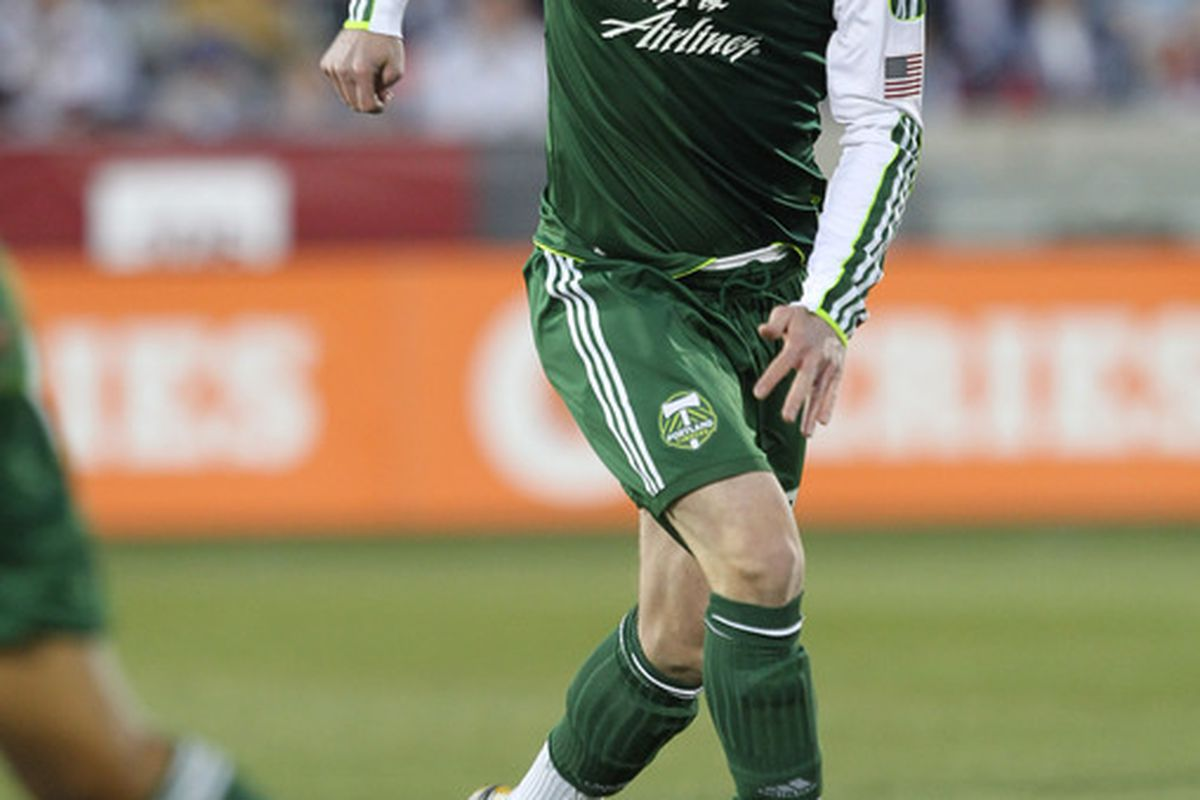 Portland's Kenny Cooper put  the Timbers up 1-0 against D.C. United. (Photo by Michael Martin/Getty Images)