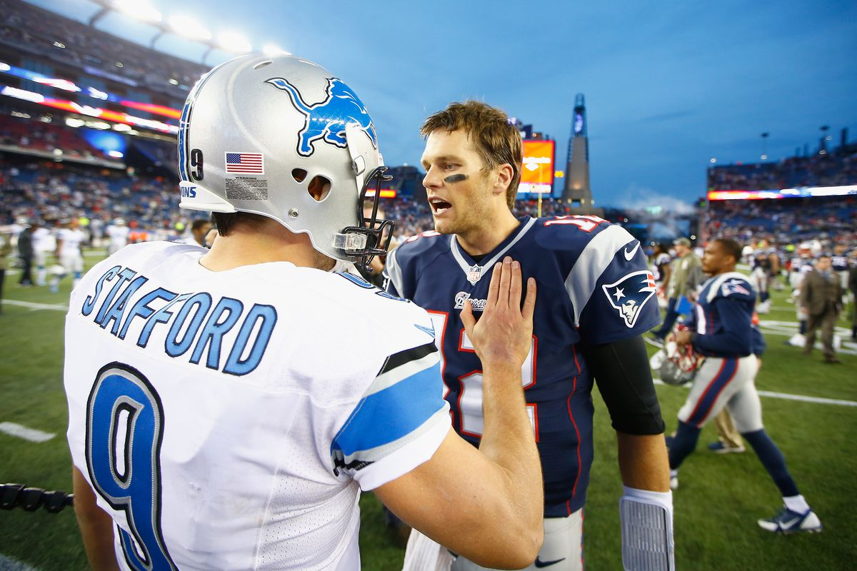 ee1457c5fad Today's question: would you rather build your 2018 team around Patriots'  future Hall of Famer Tom Brady or Lions Pro Bowler Matthew Stafford?