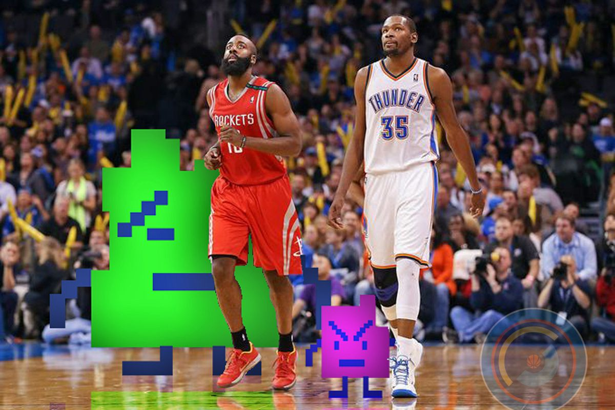 Pfft, James Harden and his third dimension. The Thunder have five. Thousand. Don't question it.