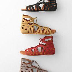 "Gentle Souls <b>break-my-heart gladiator</b> sandals at <a href=""http://www.garnethill.com/gentle-souls-break-my-heart-gladiator-sandals/205484"">Garnet Hill</a>, $195"