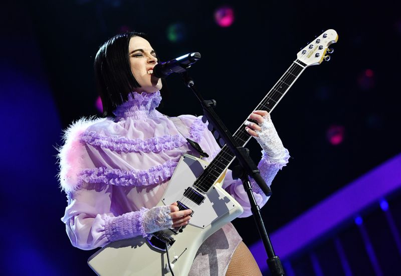 """St. Vincent performs onstage during the 62nd Annual Grammy Awards' """"Let's Go Crazy: The Grammy Salute To Prince"""" on January 28, 2020 in Los Angeles, California."""