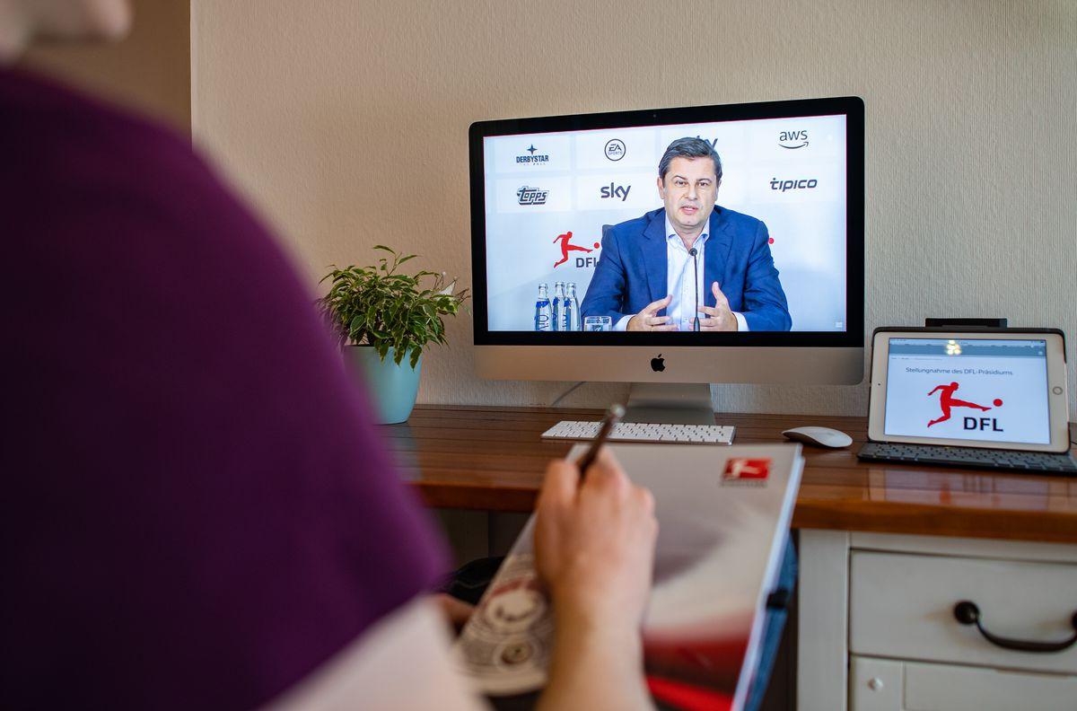 Coronavirus - Video Press Conference of the German Football League
