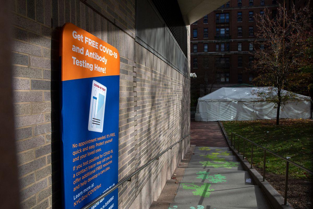 Bellevue Hospital provided free coronavirus testing, Nov. 18, 2020.