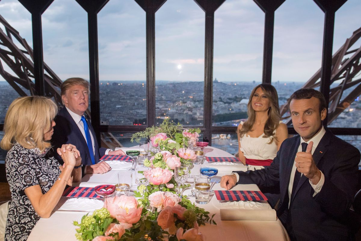Fast Food Lover Donald Trump Enjoys Michelin Starred Meal Atop The Eiffel Tow