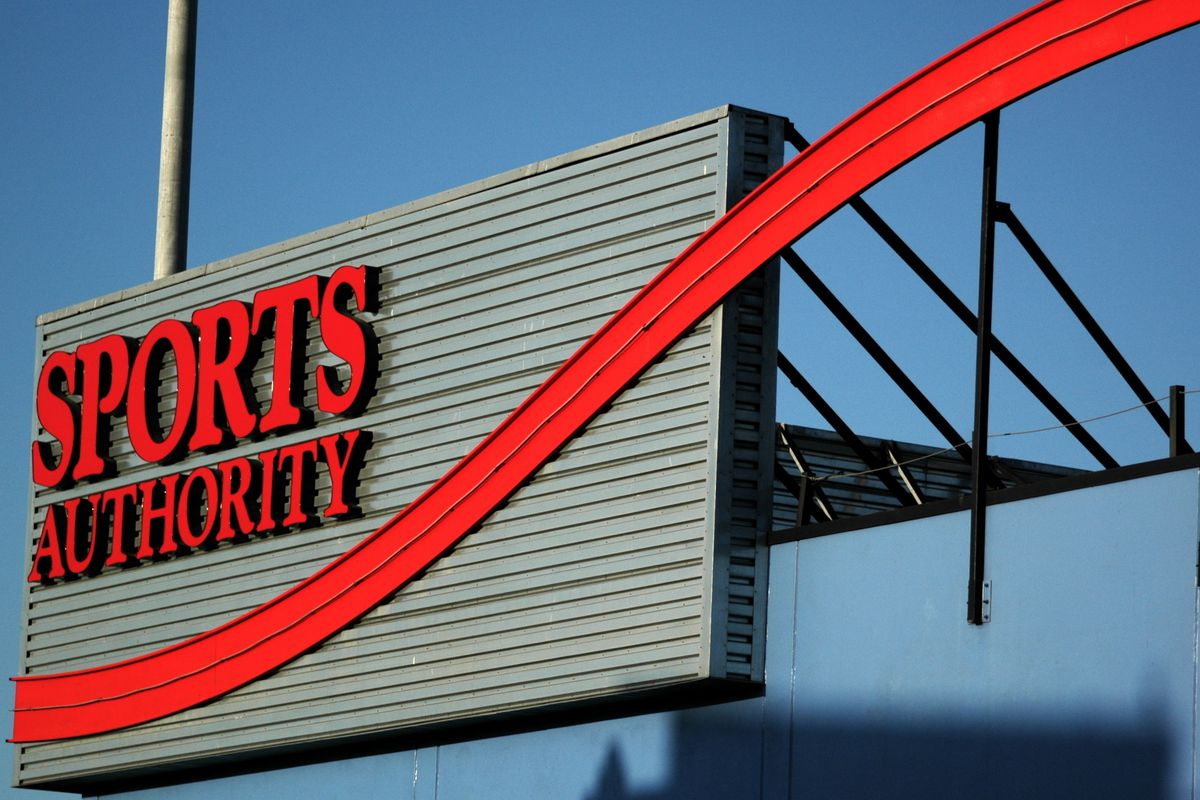 Sports Authority red signage