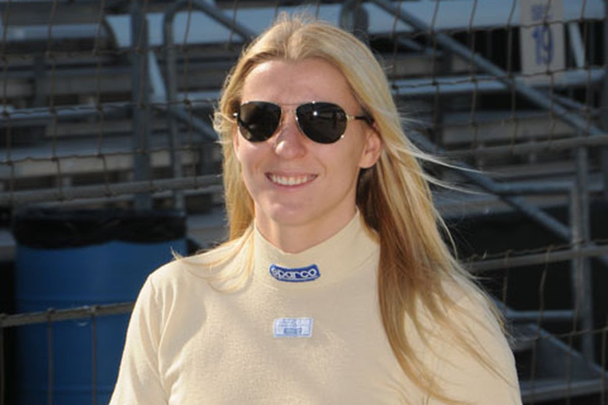 Pippa Mann, the first female pole position winner in the 101-year history of the Indianapolis Motor Speedway (Photo: PippaMann.com)