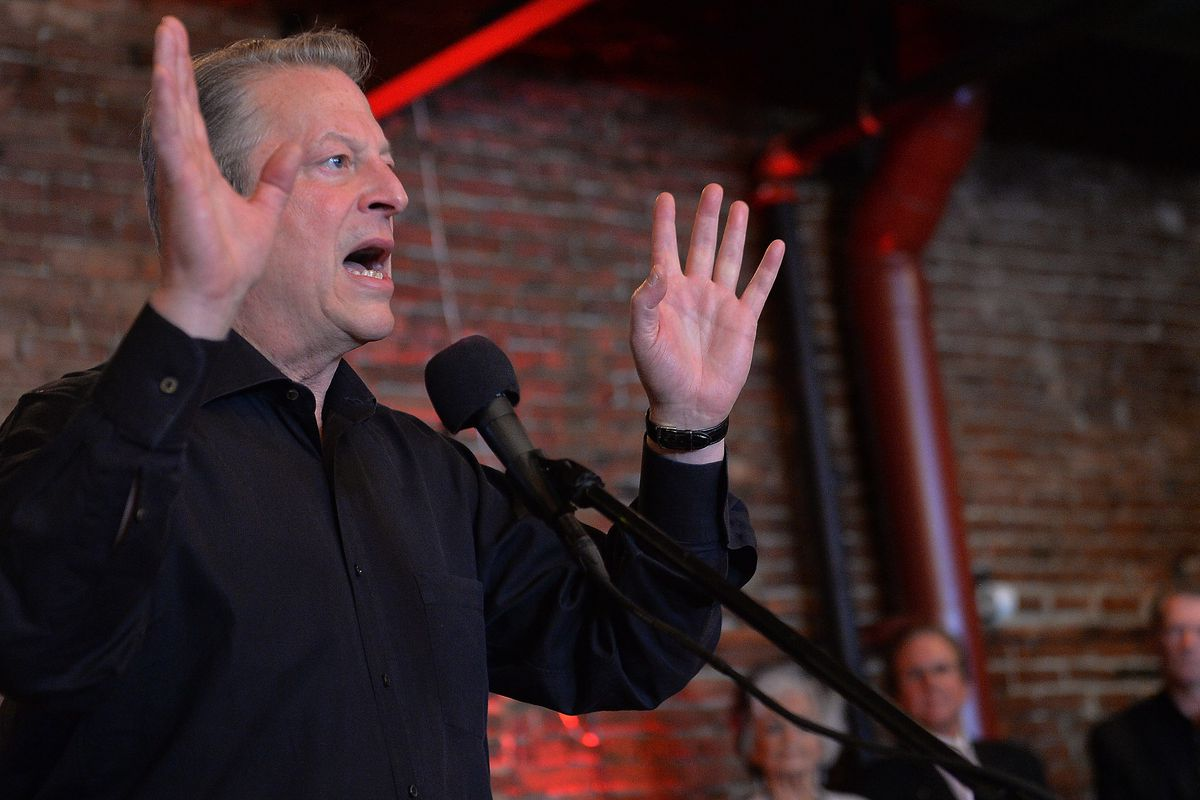 Al Gore attends the Johnny Cash VIP party at the new Johnny Cash Museum on May 29, 2013