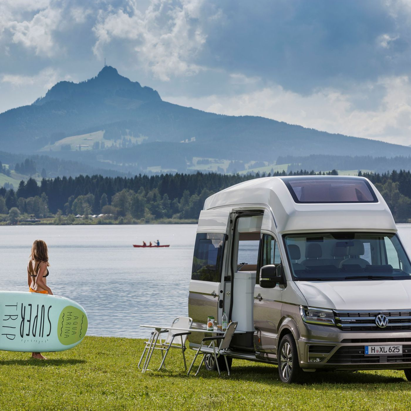 Superb Volkswagen California Xxl Boasts Panoramic Roof For Squirreltailoven Fun Painted Chair Ideas Images Squirreltailovenorg