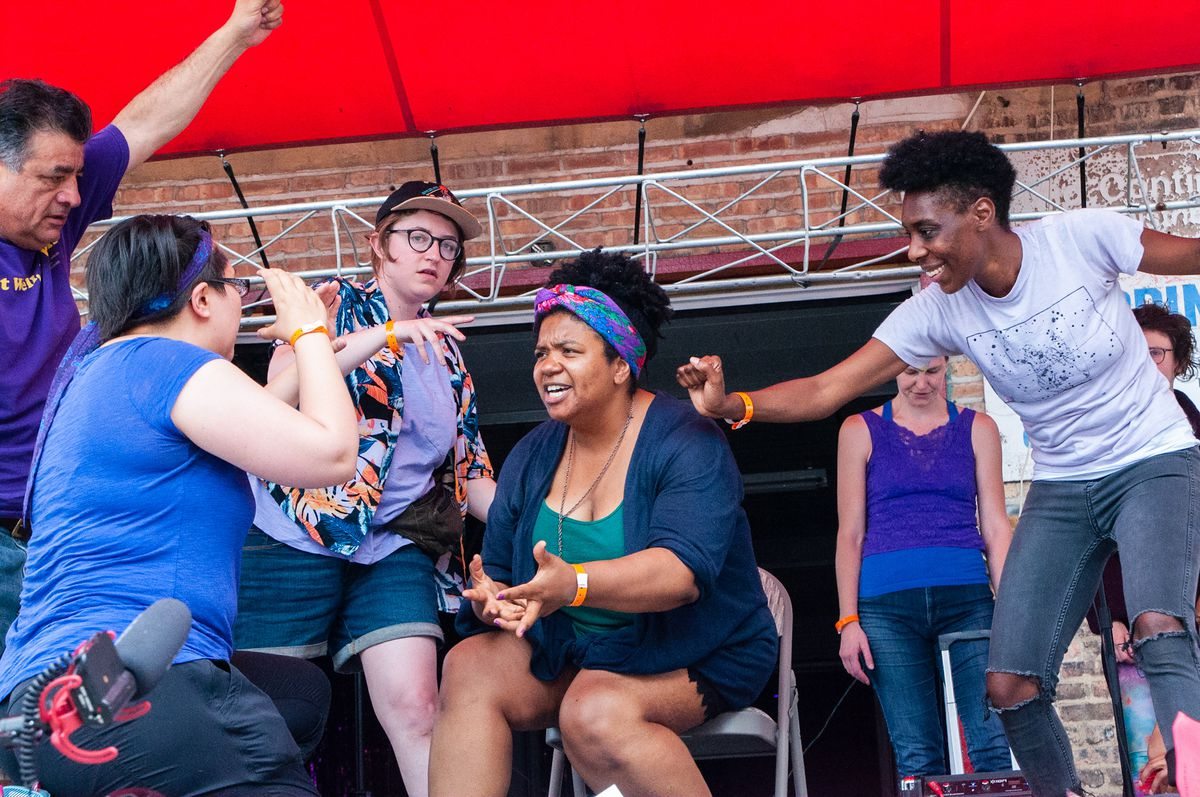 """Free Street Theater rehearses """"Still/Here: Manifestos for Joy and Survival."""""""