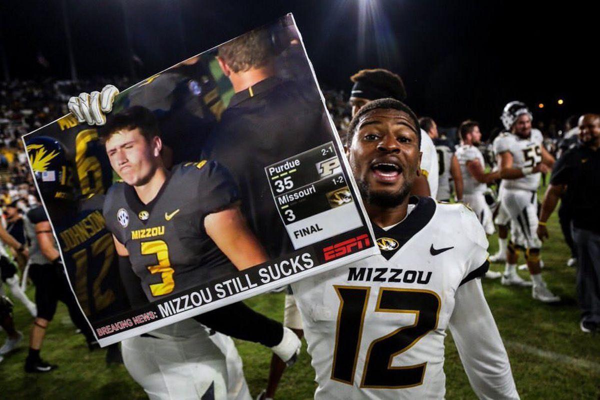 2019 Mizzou Football Schedule Drew Lock, Purdue fan bond over trash talk; Missouri's 2019