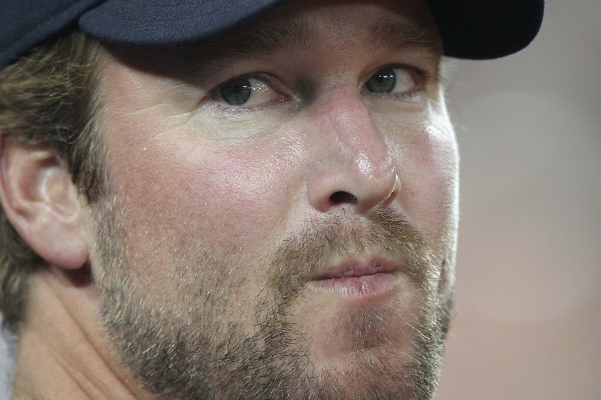 Jul 13, 2012; Toronto, ON, Canada; Cleveland Indians pitcher Derek Lowe (26) looks on against the Toronto Blue Jays at the Rogers Centre. The Indians beat the Blue Jays 1-0. Mandatory Credit: Tom Szczerbowski-US PRESSWIRE