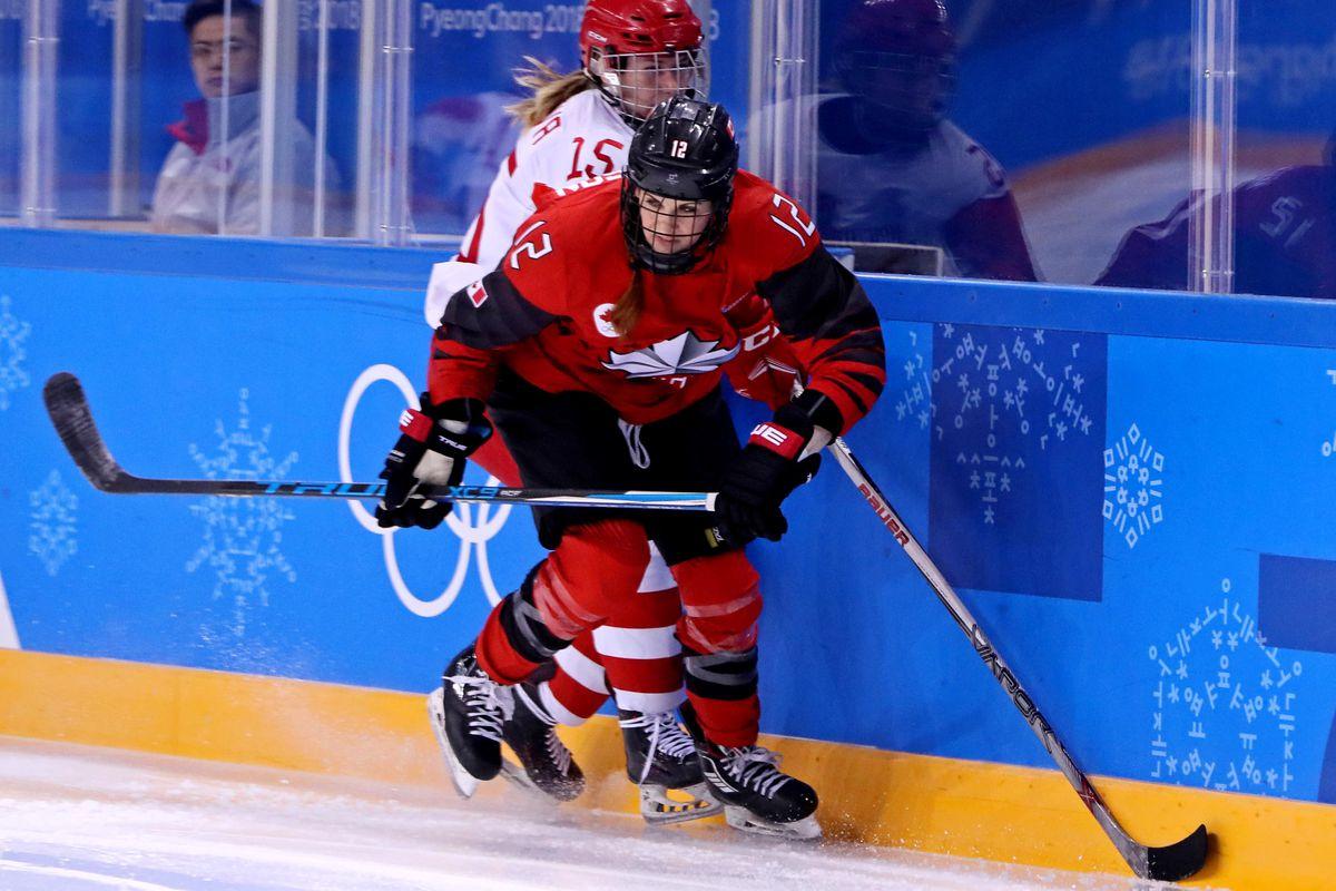 Olympics: Ice Hockey-Women Team Group A - CAN-RUS