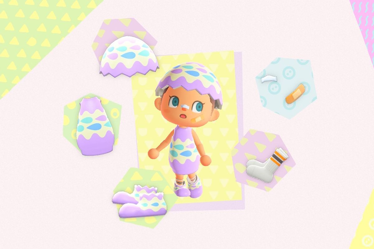 a Bunny Day outfit in Animal Crossing: New Horizons