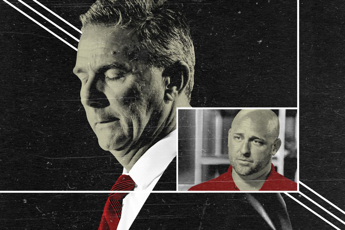 A photo illustration of Urban Meyer and Zach Smith of Ohio State