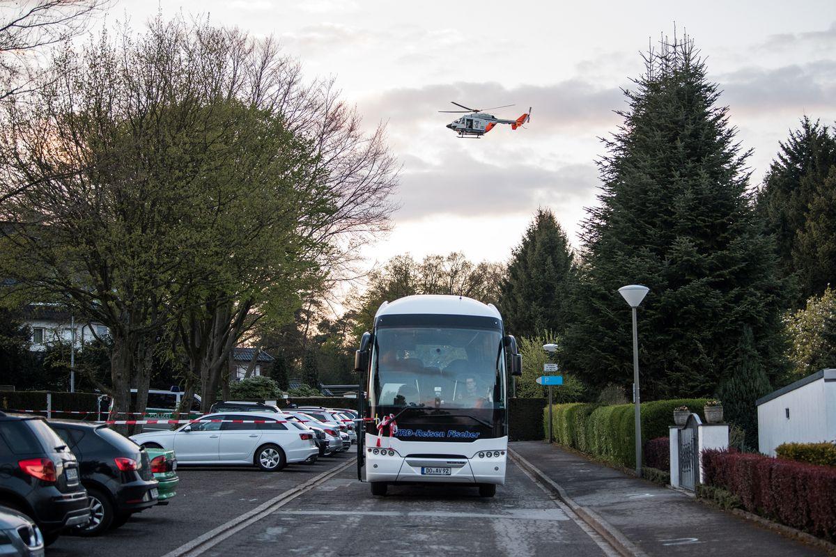Police Reconstruct Scene Of Dortmund Bus Bombing