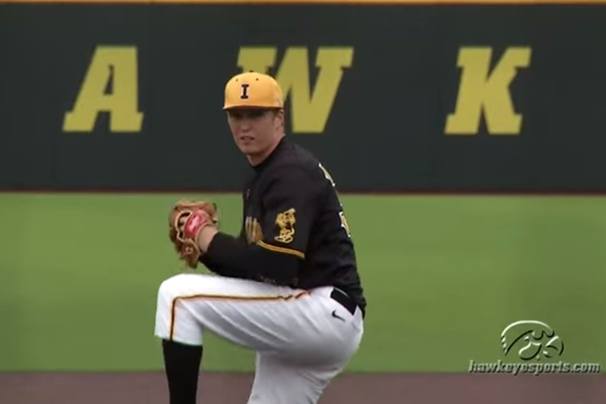 Tyler Peyton in action (picture from Iowa-Maryland game earlier this year)