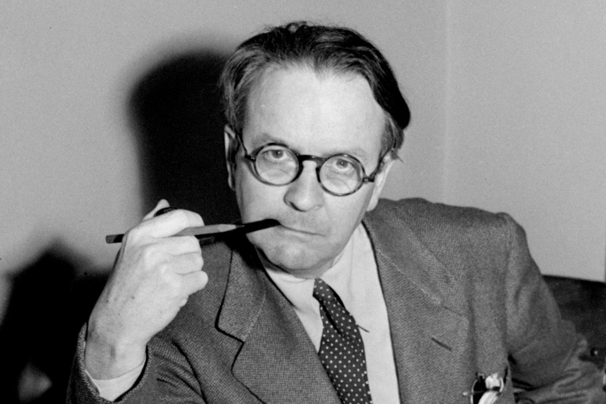This 1946 file photo shows mystery novelist and screenwriter Raymond Chandler.
