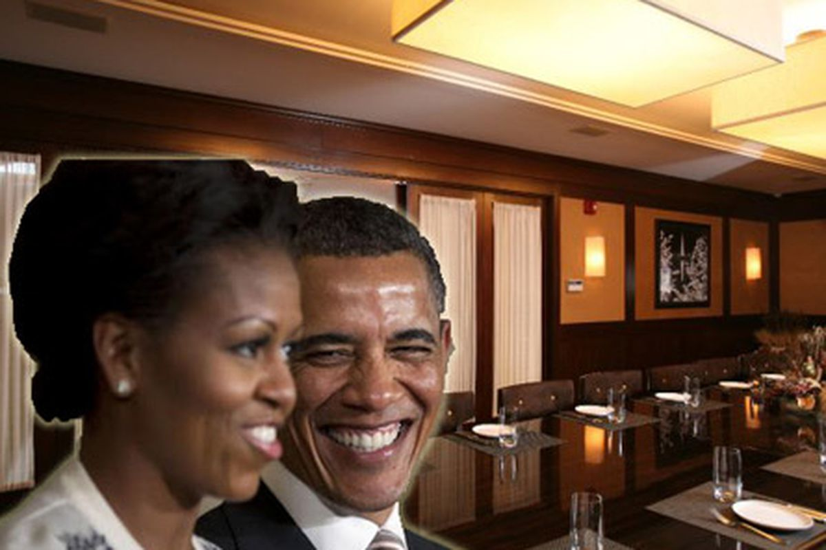 Barack and Michelle Obama [Photo: AP], BLT Steak private dining room