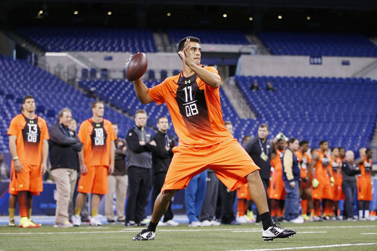 The next Ryan Leaf. Unless the Eagles get him, because Chip Kelly is the only man insane enough to run an offense that'll work with him
