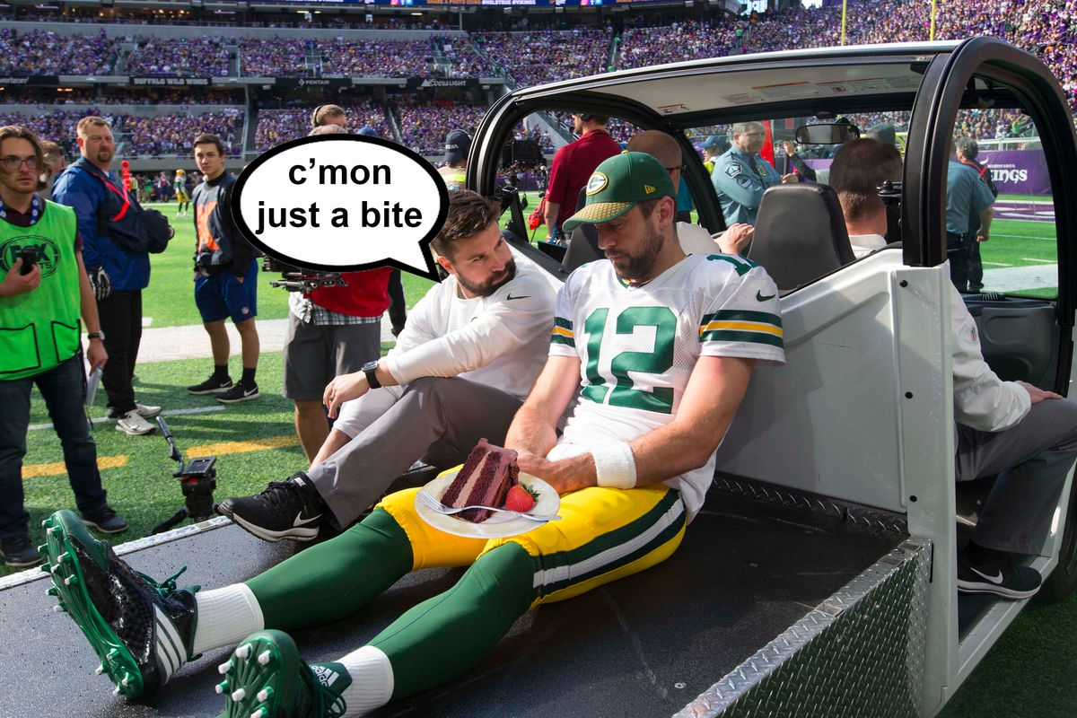 NFL Dad Week 6 Sorry Aaron Rodgers Have Some Birthday Cake