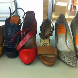 Lanvins on left and Jean Michel Cazabat wedges on right