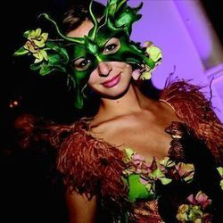"""""""This <em>Midsummer Night's Dream</em> themed-event was for a nonprofit, so every penny counted toward our client's bottom line.  Because we were trying to get the greatest wow factor for the least money, I personally handmade all of the costumes for our"""
