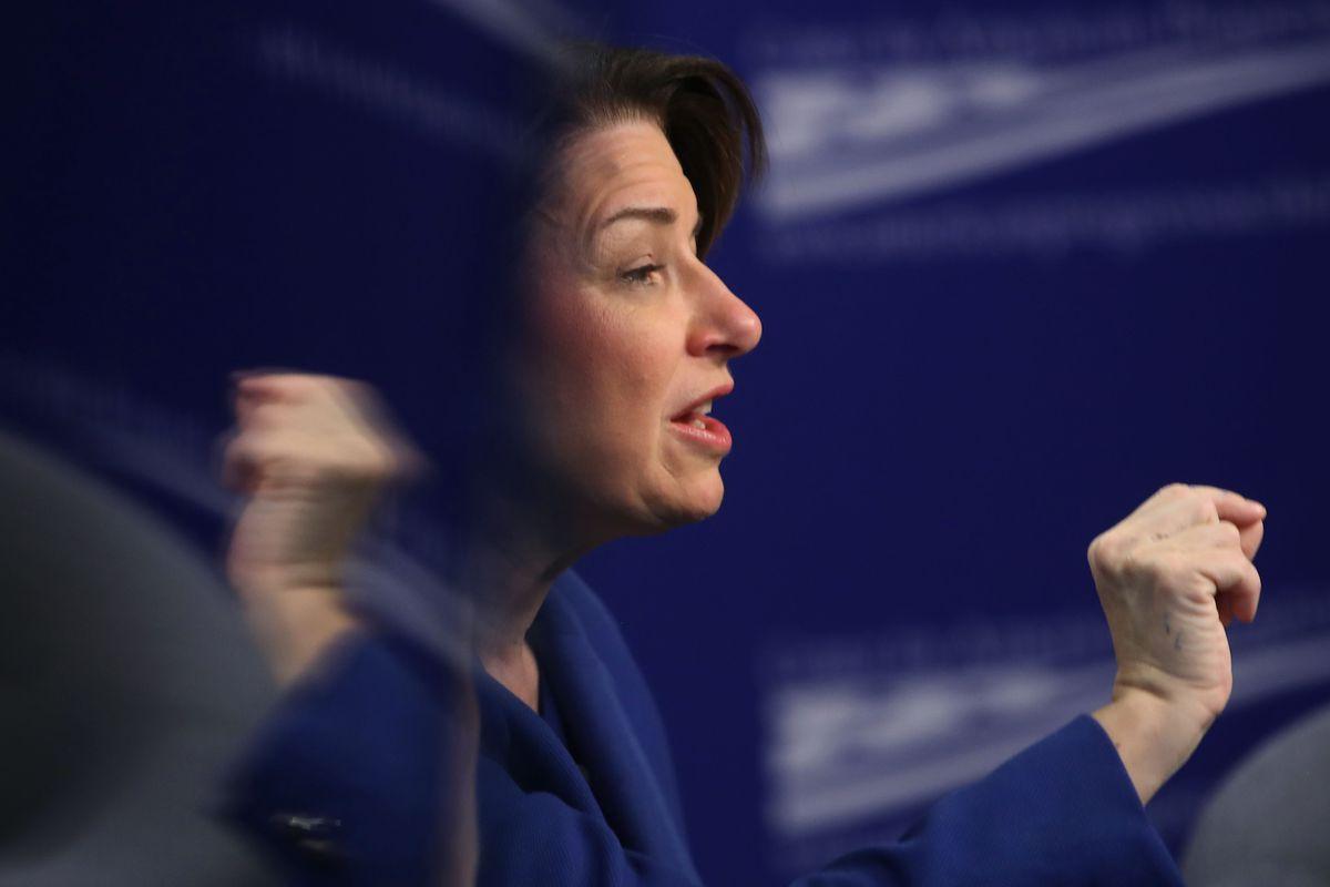 U.S. Sen. Amy Klobuchar Participates In Discussion On Monopolies In America