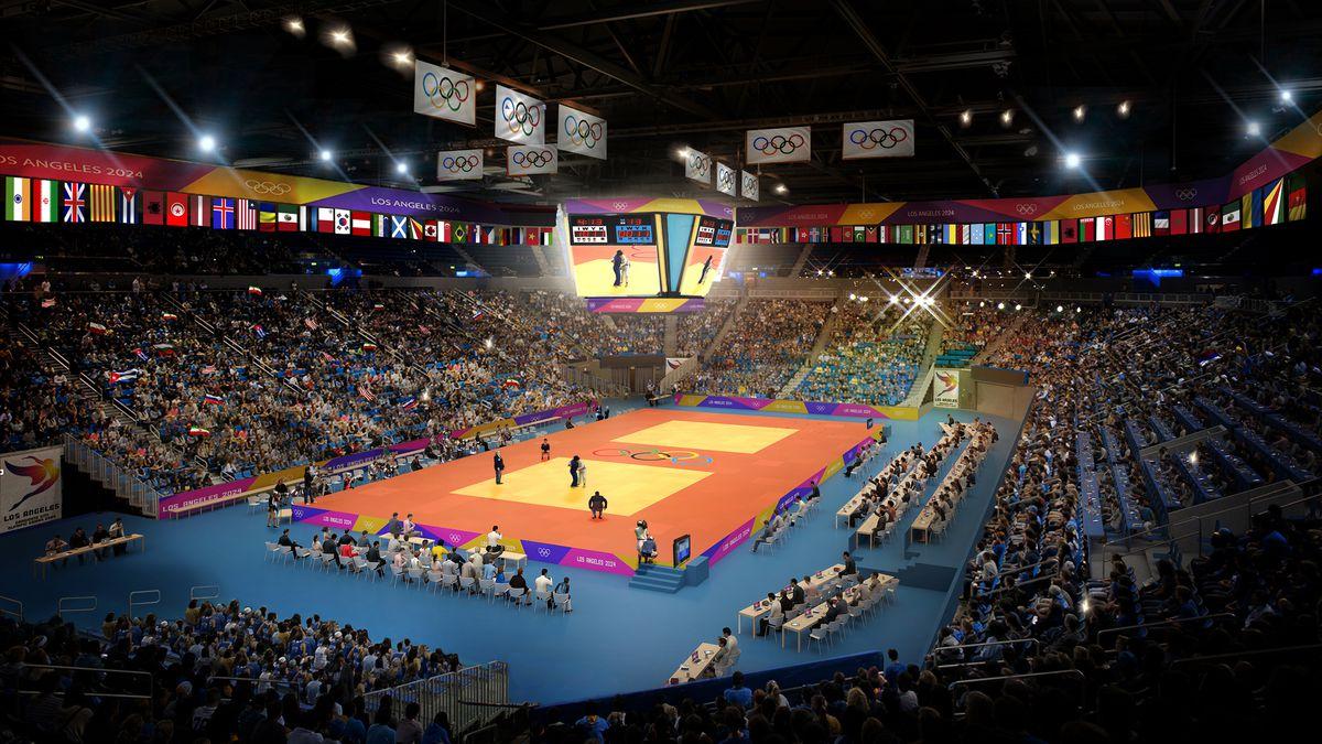 Arena set up for judo