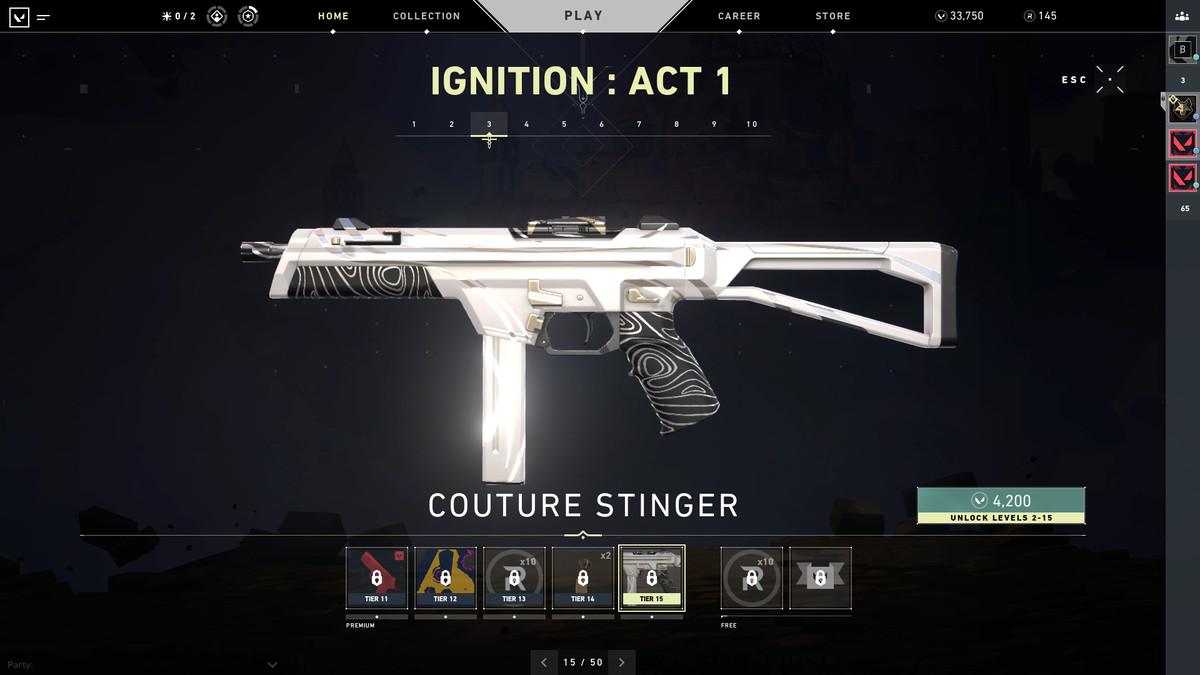 Valorant's Coulture Stinger smg skin