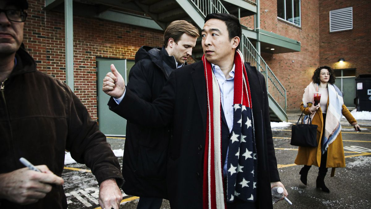 Former Democratic presidential candidate Andrew Yang