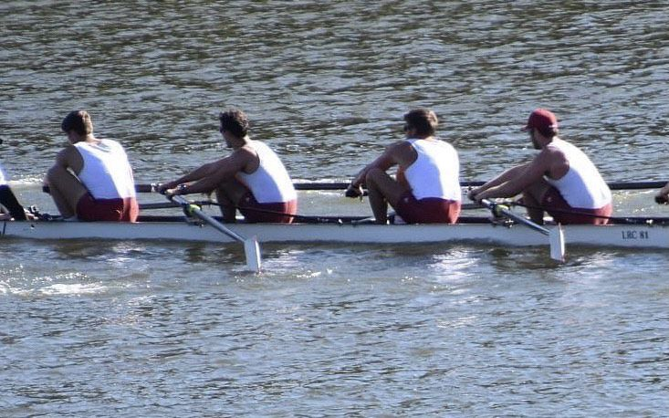 Jack Lombardo and Bama teammates on the water.