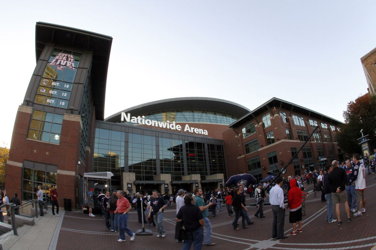 COLUMBUS, OH - OCTOBER 7:  An exterior view of Nationwide Arena before the home opener between the Nashville Predators and the Columbus Blue Jackets at Nationwide Arena on October 7, 2011 in Columbus, Ohio.  (Photo by Justin K. Aller/Getty Images)