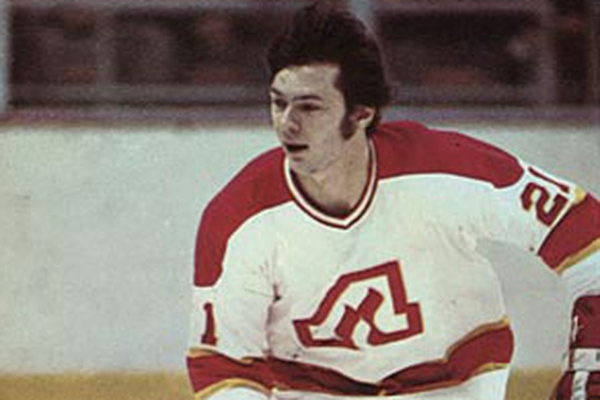 Larry Romanchych played a part in the Flames' first five seasons of existence, scoring 68 goals with 95 assists.