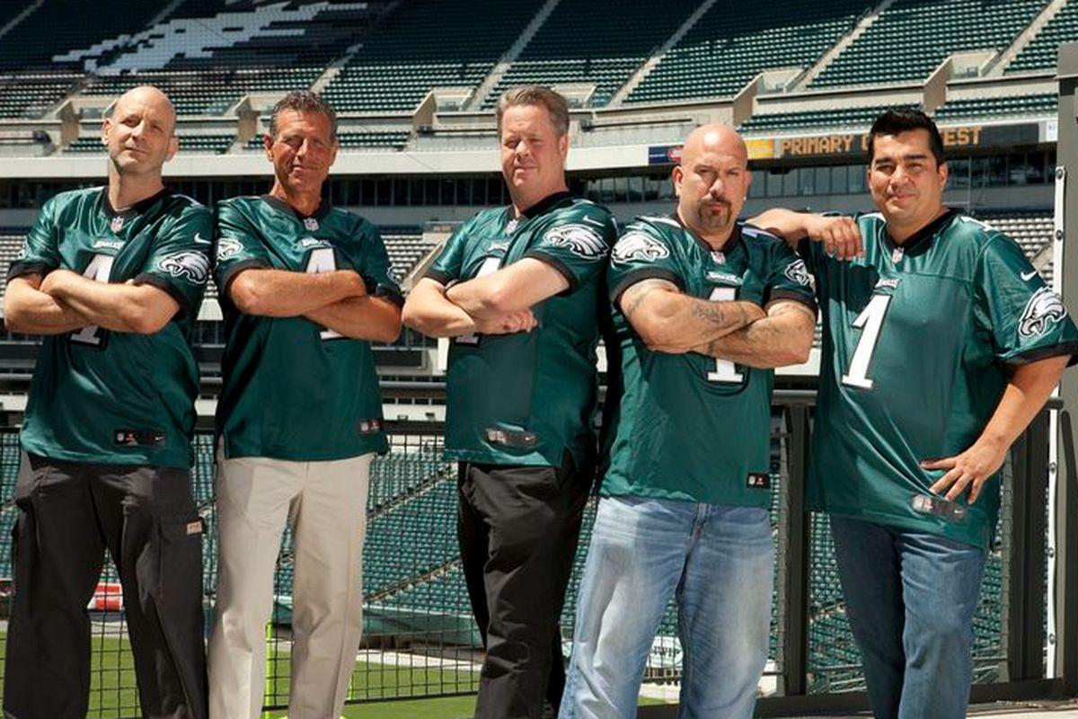 Marc Vetri, Pete Ciarrocchi, Pete McAndrews, Tony Luke, and Jose Garces are working with the Eagles.
