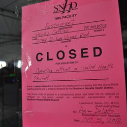 The Southen Nevada Health District shut the restaurant down Oct. 5 for operating without a health permit.