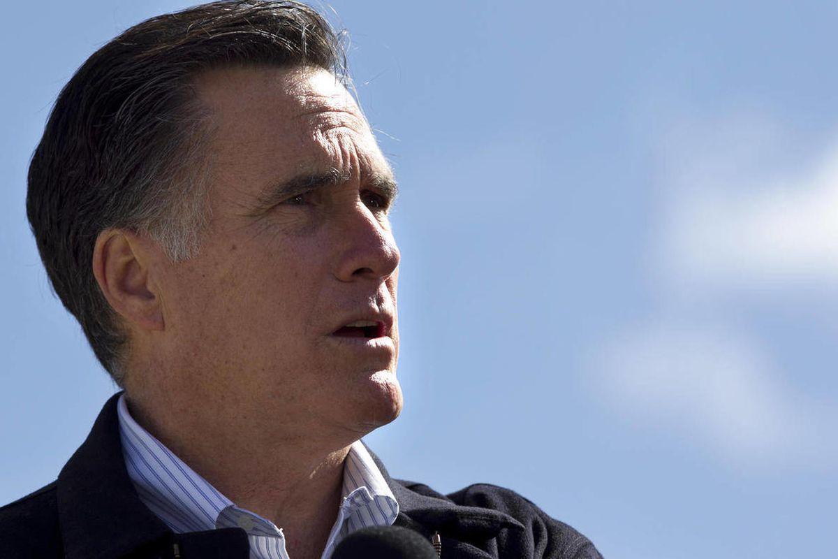 Republican presidential candidate, former Massachusetts Gov. Mitt Romney  speaks in Tunkhannock, Pa.., Thursday, April 5, 2012.