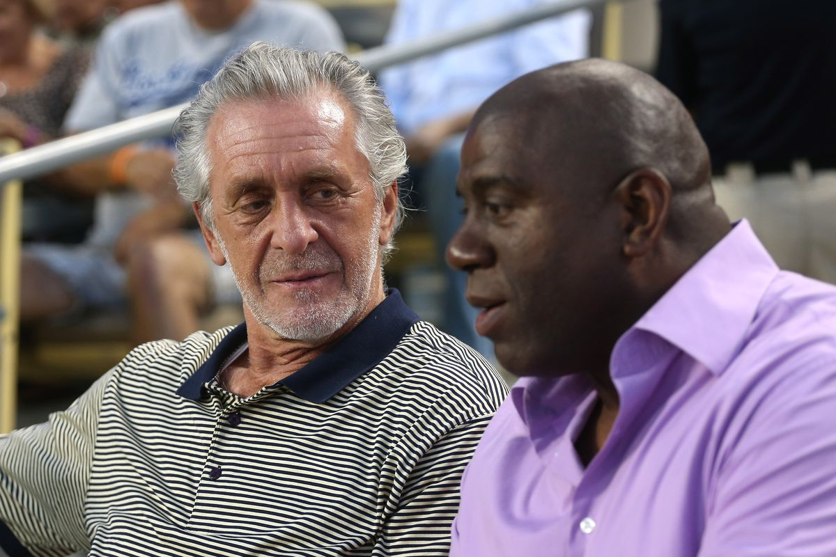 736c9fa91bc Pat Riley says he has no interest in replacing Magic Johnson with Lakers    That s not what I want to do