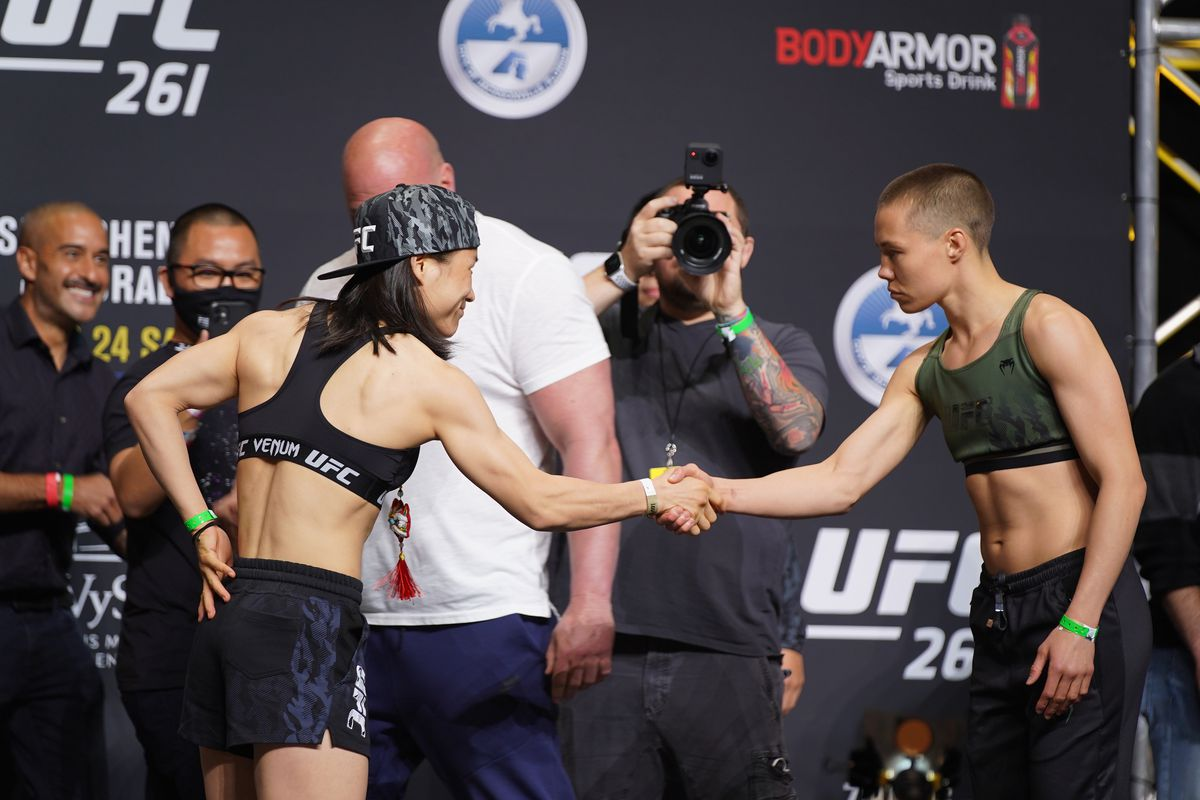 MMA: APR 23 UFC 261 Ceremonial Weigh-In
