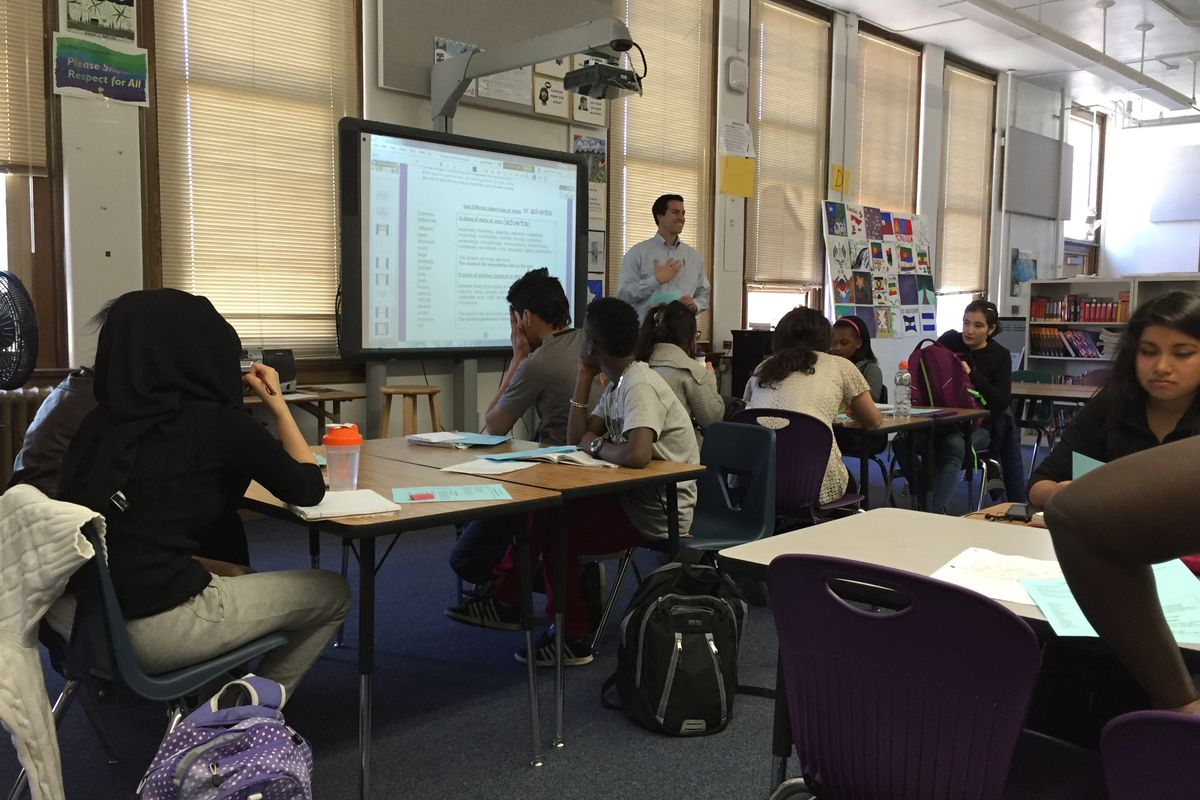 Eddie Williams's classroom at Denver's South High School (photo provided by Helen Thorpe).