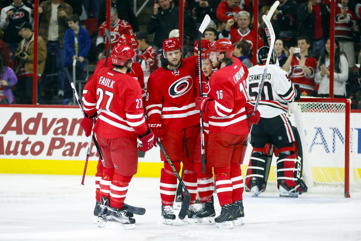 Elias Lindholm, Jeff Skinner and Justin Faulk lead a core of young players going into the regular season.