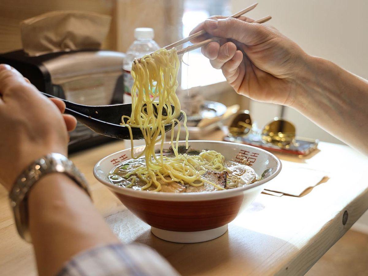 A bowl of ramen at Wu-Ron's